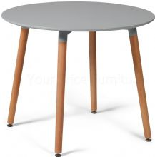 Eiffel Grey Designer Dining Table Small Round 90cms